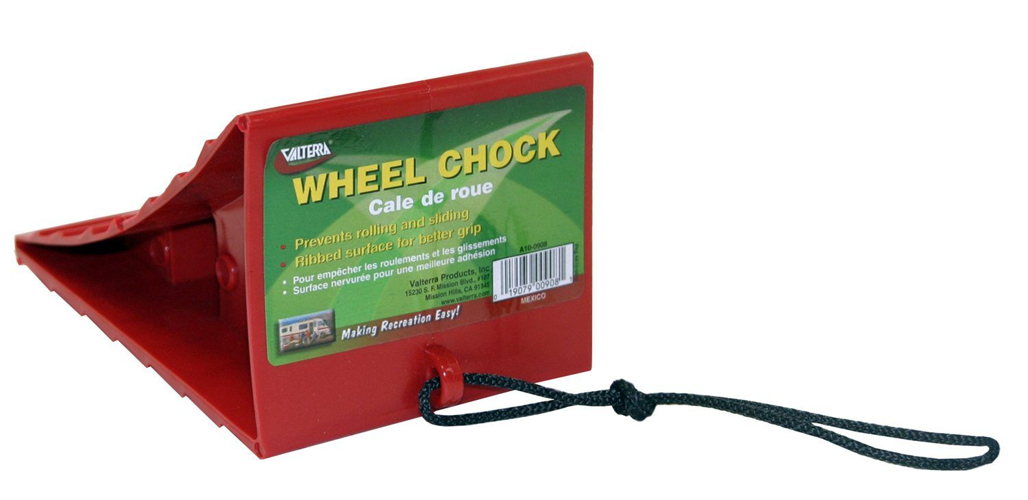 Wheel Chock w/Tether, Red