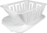 MINI DISH DRAINER, WHITE